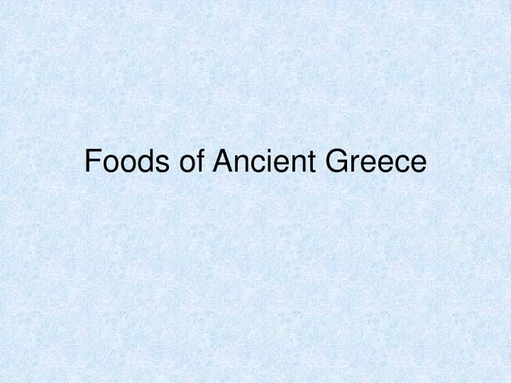 foods of ancient greece n.