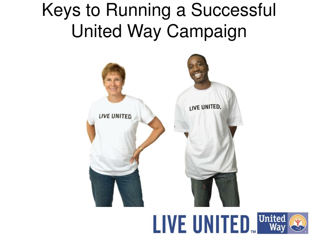 keys to running a successful united way campaign l.