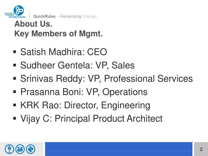 About us key members of mgmt
