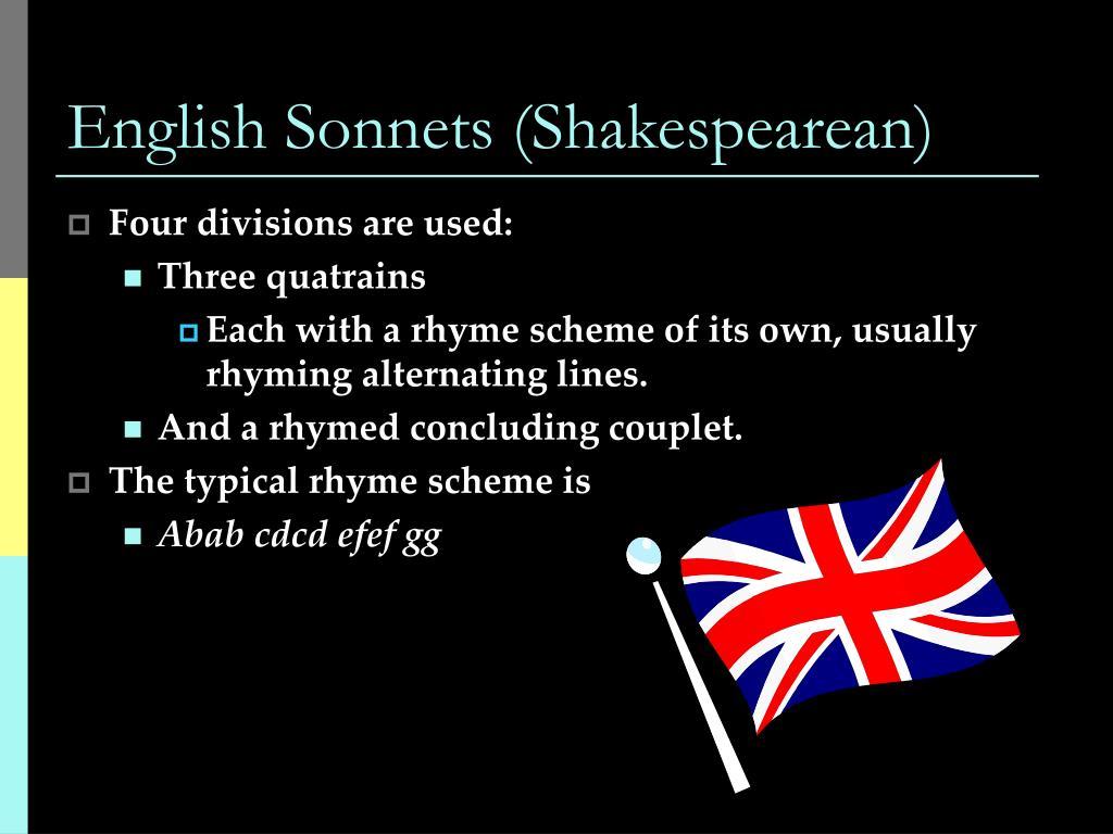 English Sonnets (Shakespearean)