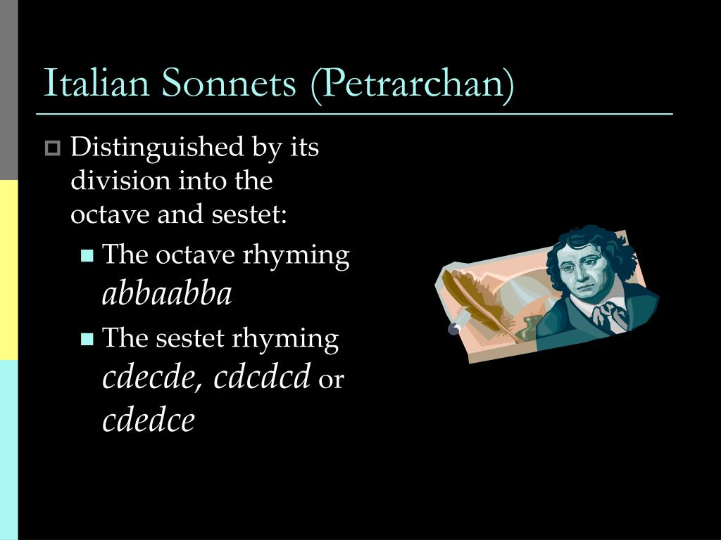 Italian Sonnets (Petrarchan)