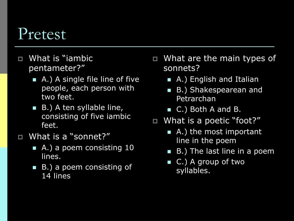 "What is ""iambic pentameter?"""