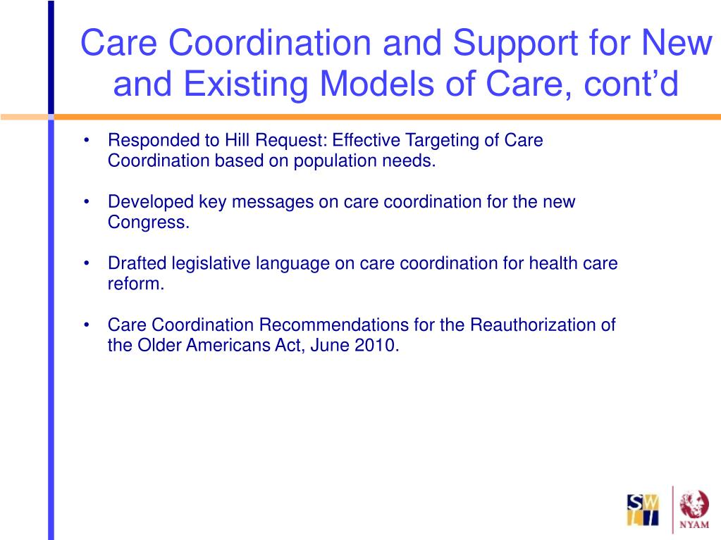 Responded to Hill Request: Effective Targeting of Care Coordination based on population needs.
