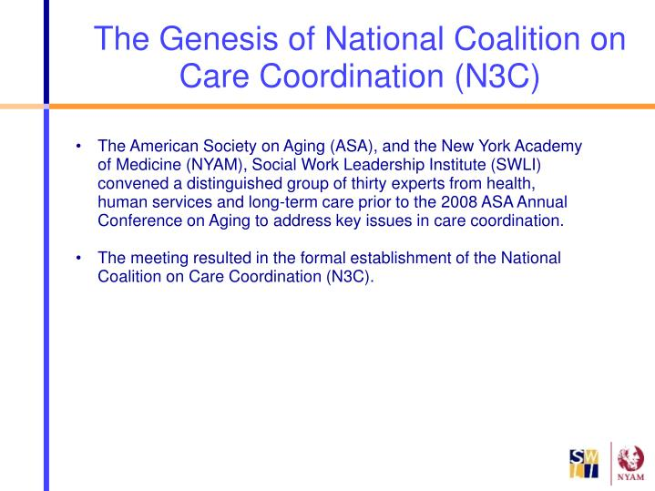 The genesis of national coalition on care coordination n3c