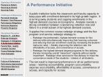 a performance initiative