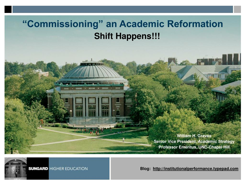 commissioning an academic reformation l.