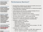 performance barriers