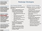 redesign strategies
