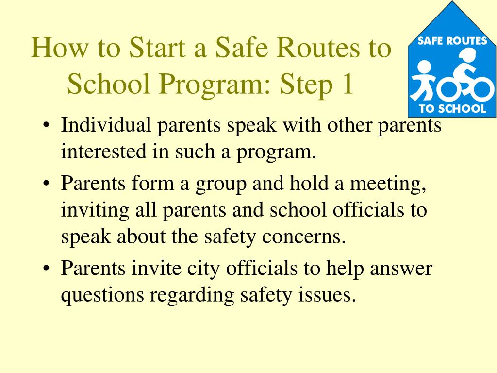 How to Start a Safe Routes to School Program: Step 1