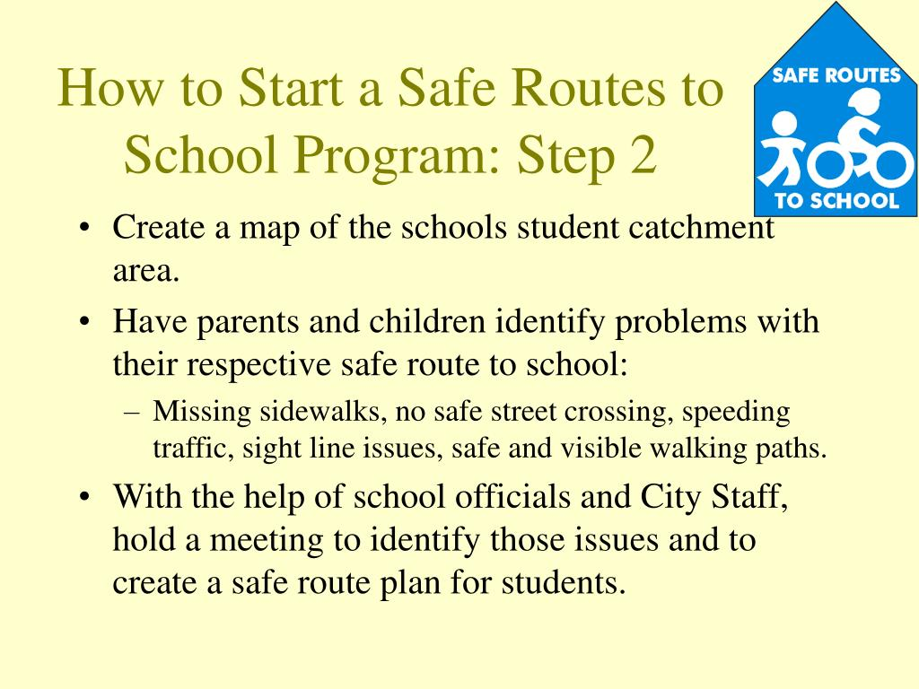 How to Start a Safe Routes to School Program: Step 2