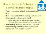 how to start a safe routes to school program step 2