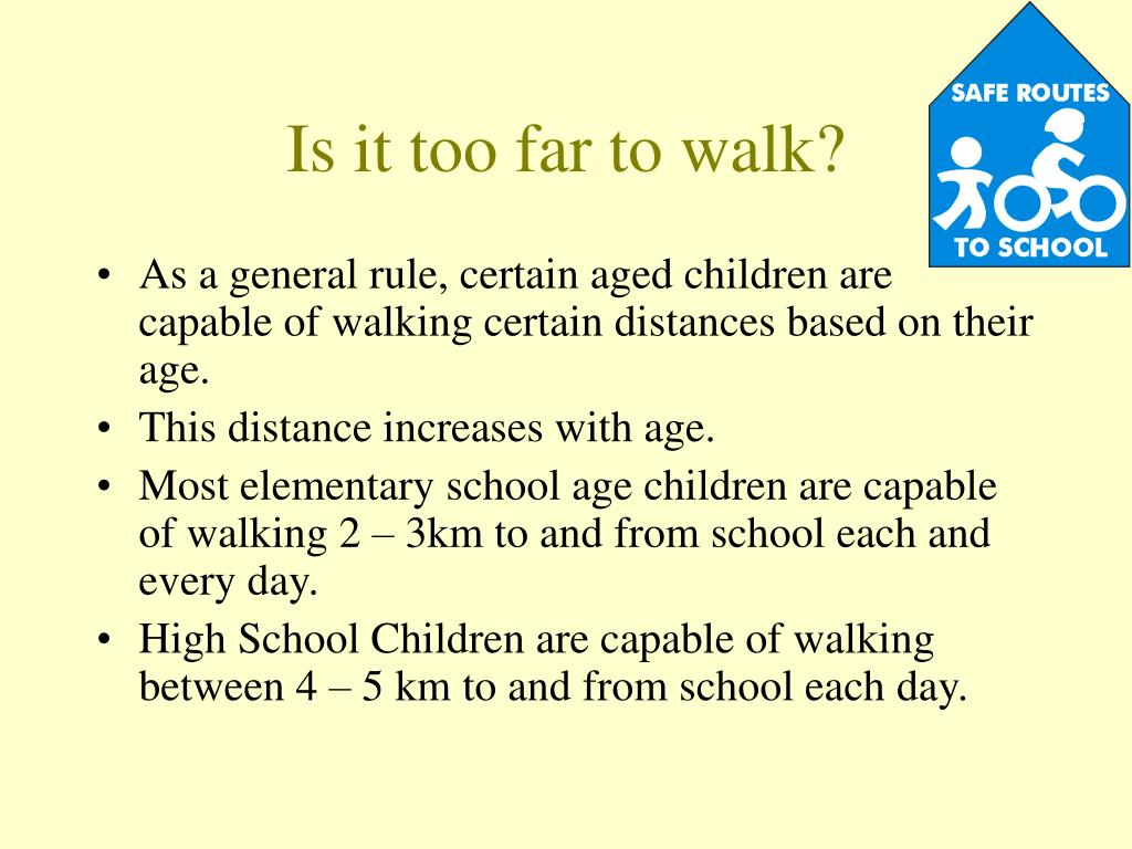 Is it too far to walk?