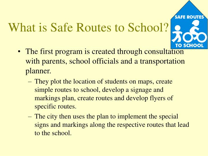 What is safe routes to school3