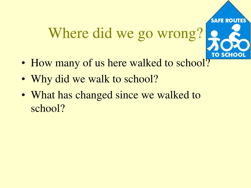 Where did we go wrong?