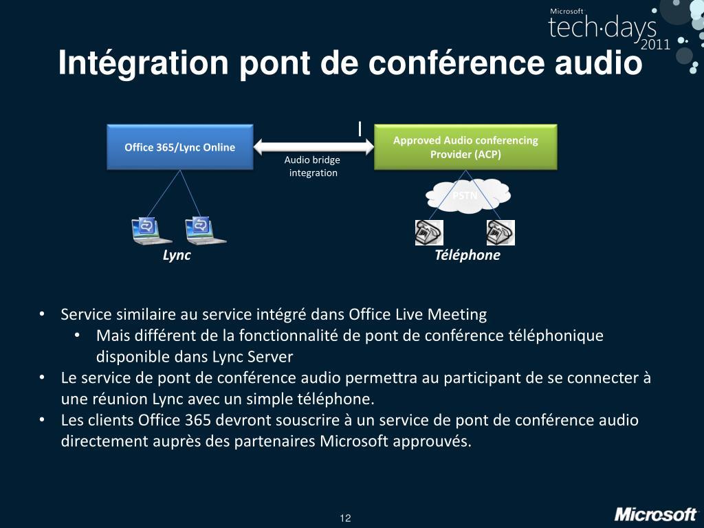Intégration pont de conférence audio