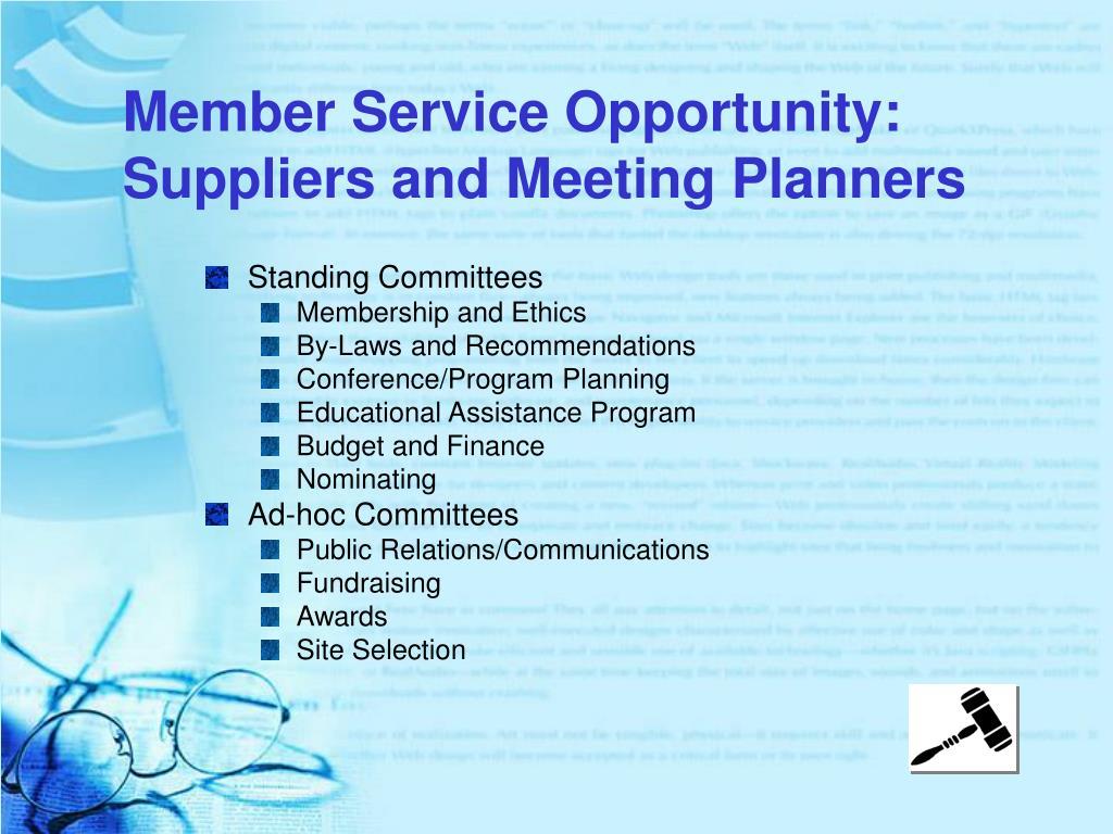 Member Service Opportunity: