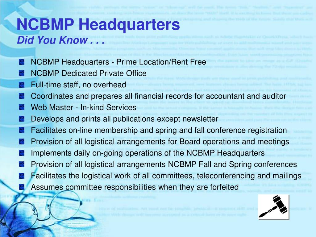 NCBMP Headquarters