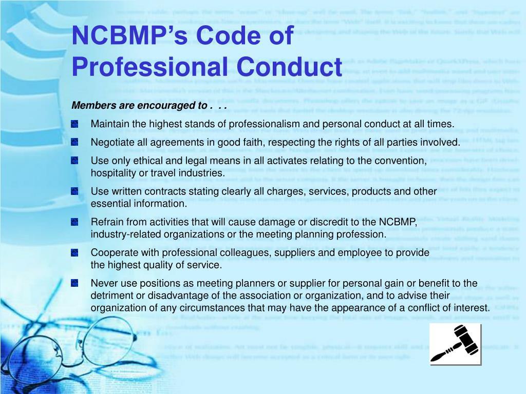 NCBMP's Code of