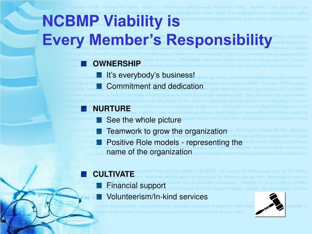 NCBMP Viability is