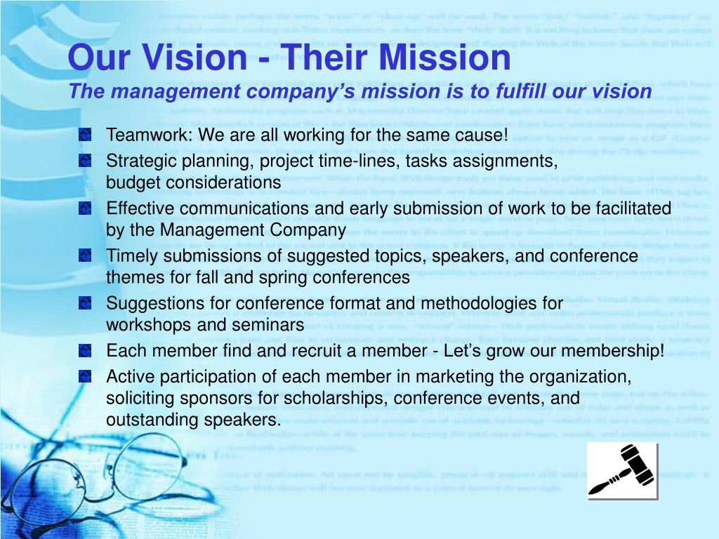 Our Vision - Their Mission