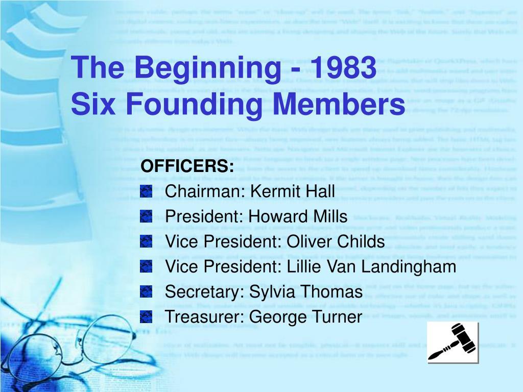 The Beginning - 1983