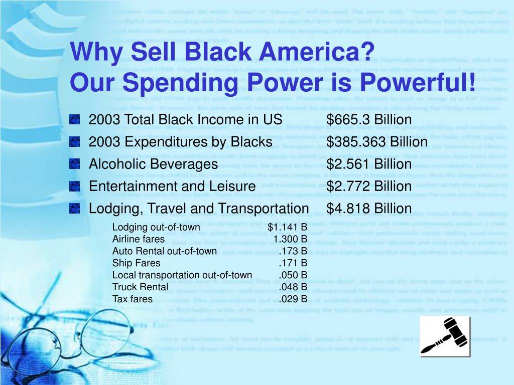 Why Sell Black America?
