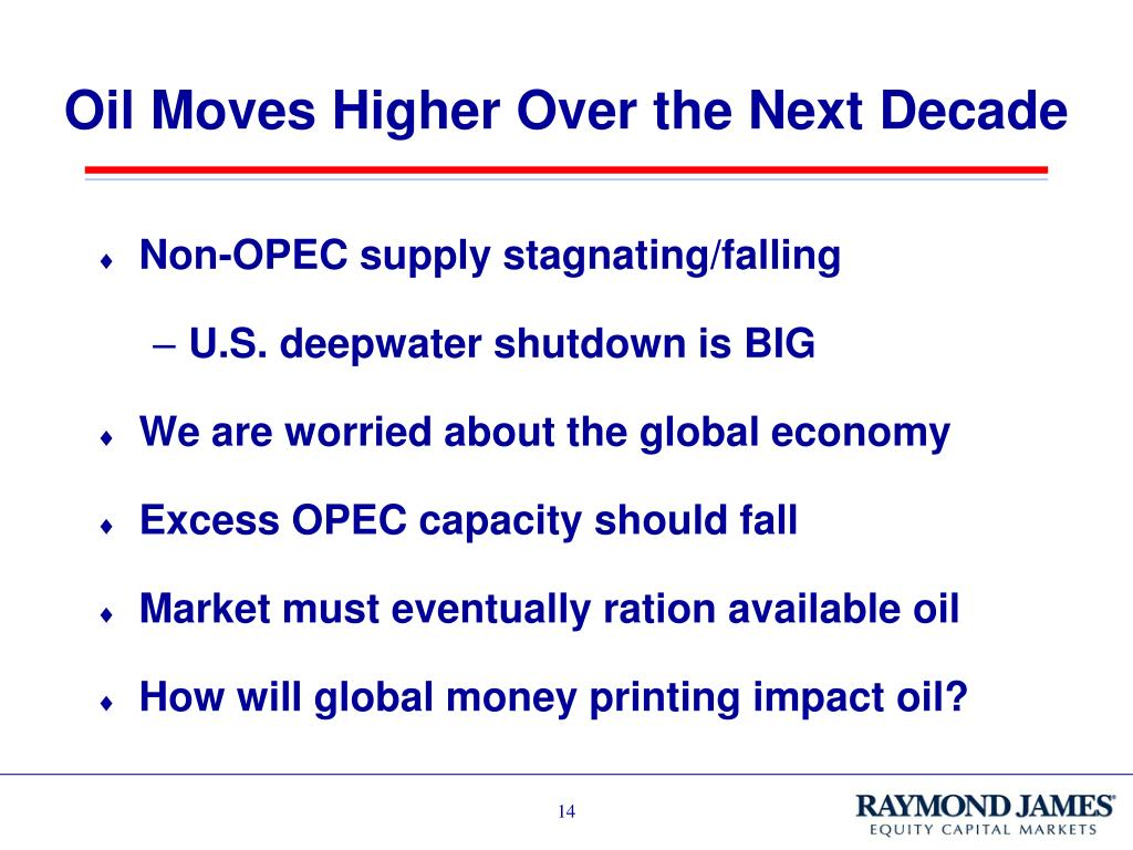 Oil Moves Higher Over the Next Decade