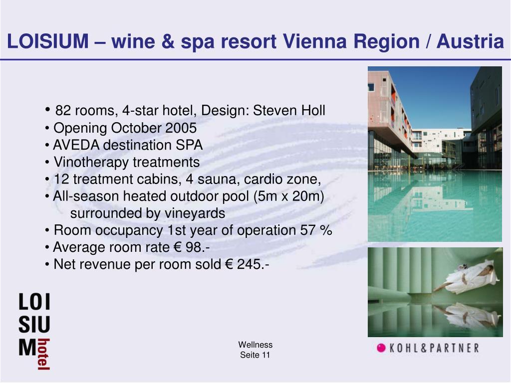LOISIUM – wine & spa resort Vienna