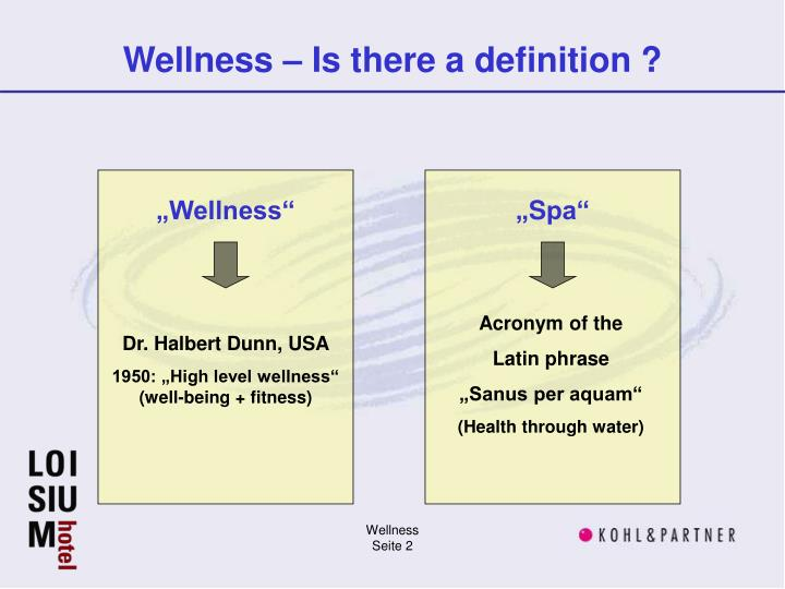 Wellness is there a definition