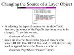 changing the source of a layer object
