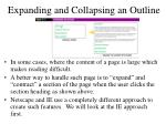 expanding and collapsing an outline