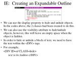 ie creating an expandable outline