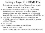 linking a layer to a html file