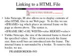 linking to a html file