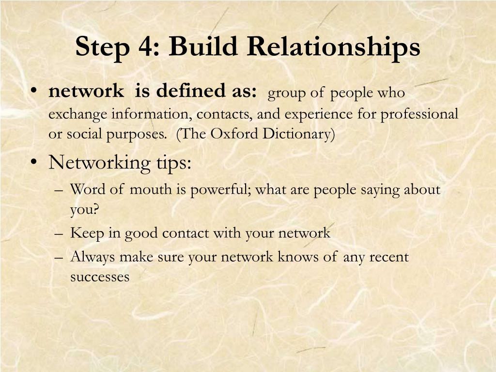 Step 4: Build Relationships