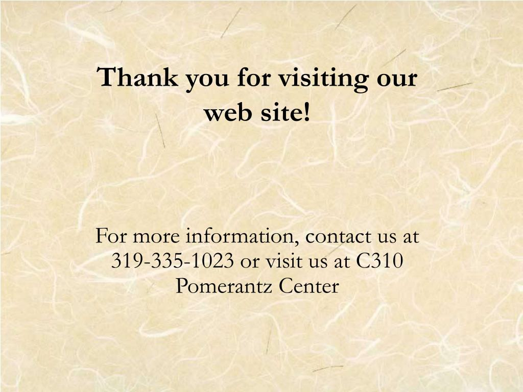 Thank you for visiting our