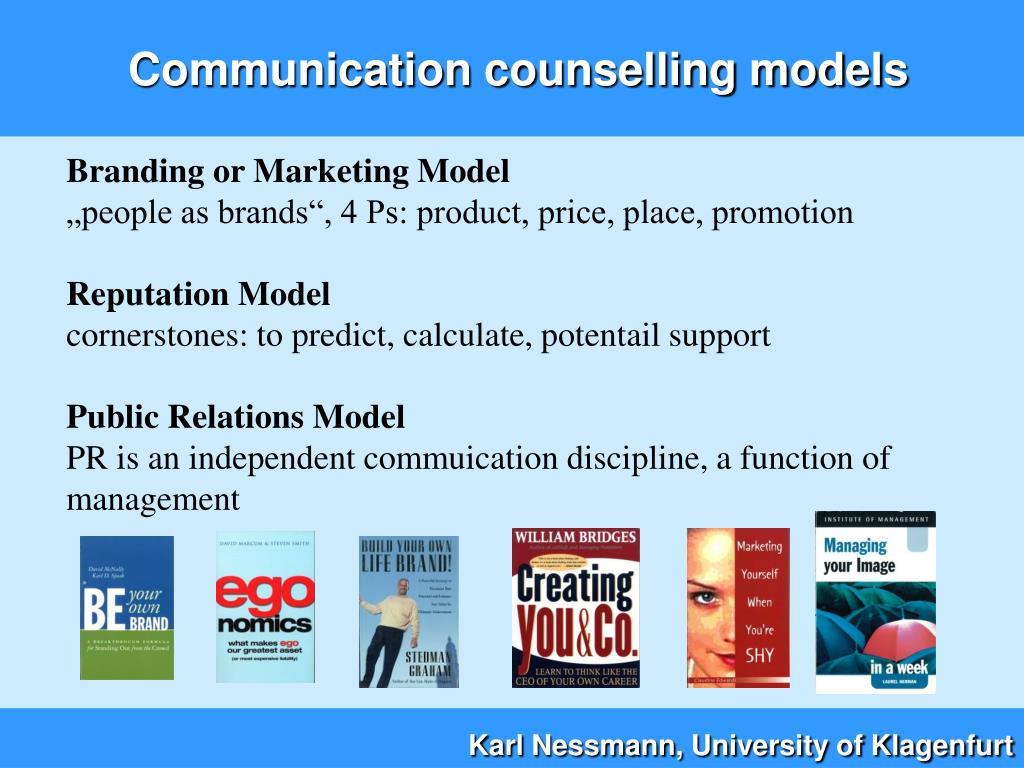 Communication counselling models