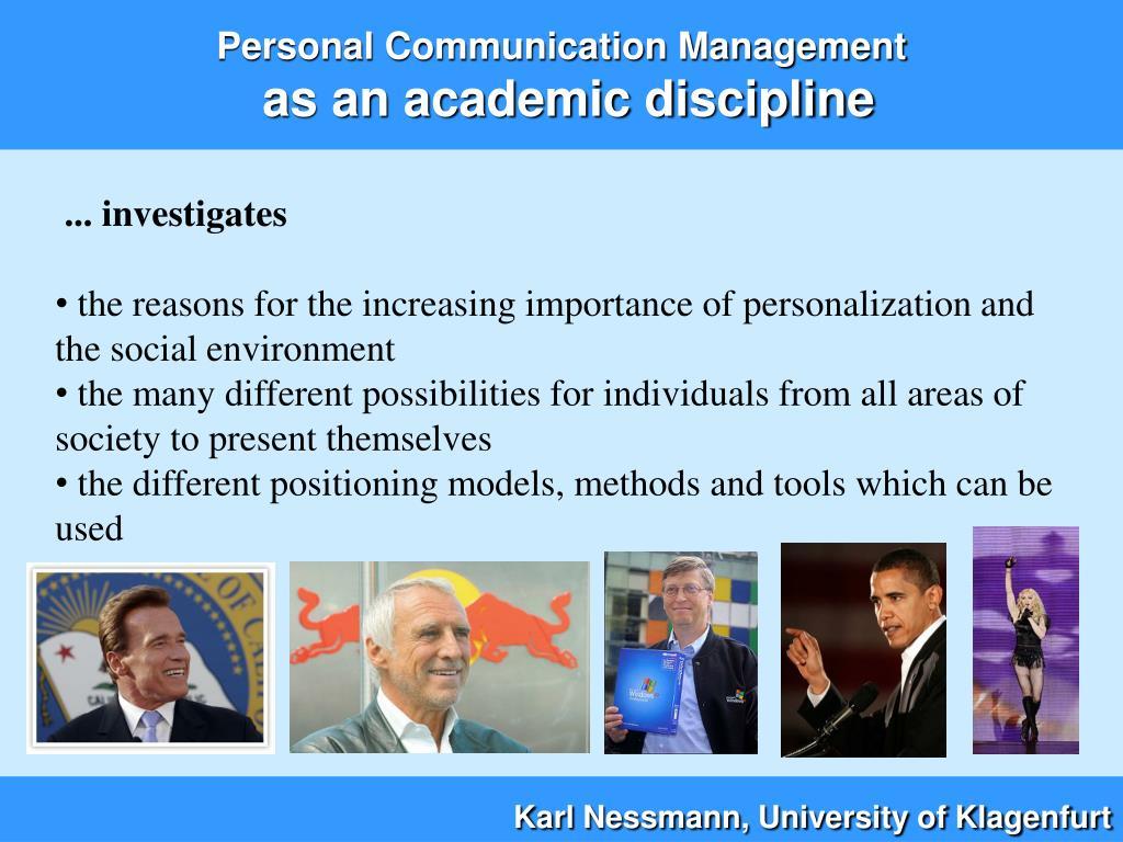 Personal Communication Management