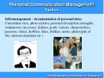 personal communication management tactics