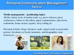 personal communication management tactics17