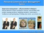 personal communication management tactics18