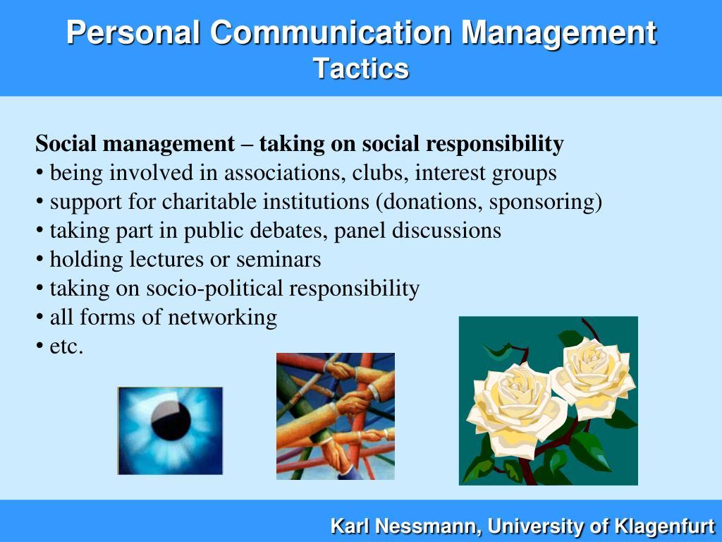 Social management – taking on social responsibility