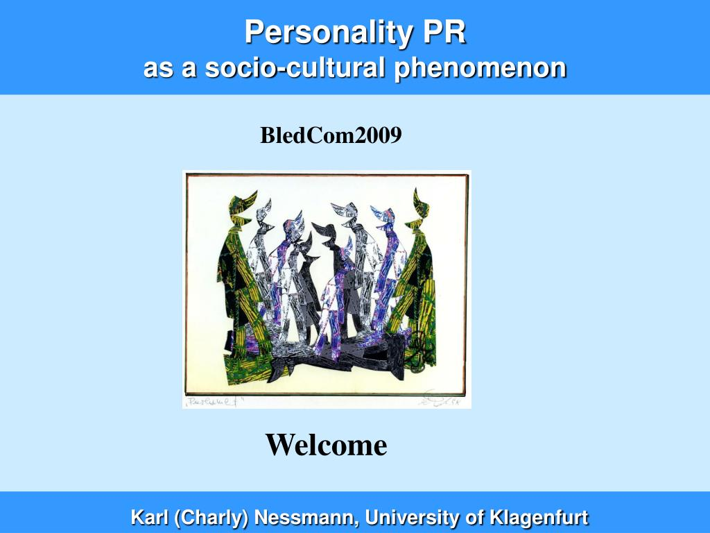 personality pr as a socio cultural phenomenon l.