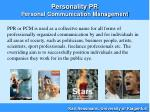 personality pr personal communication management