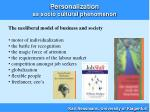 personalization as socio cultural phenomenon