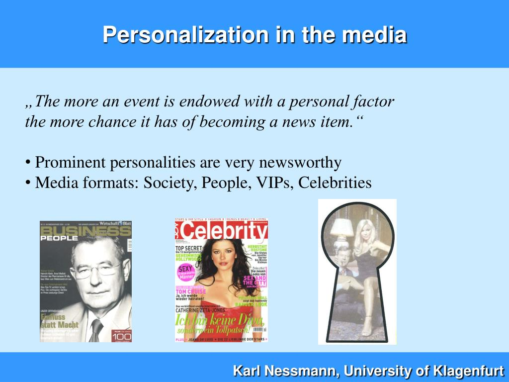 Personalization in the media