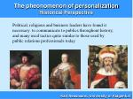 the pheonomenon of personalization historical perspective