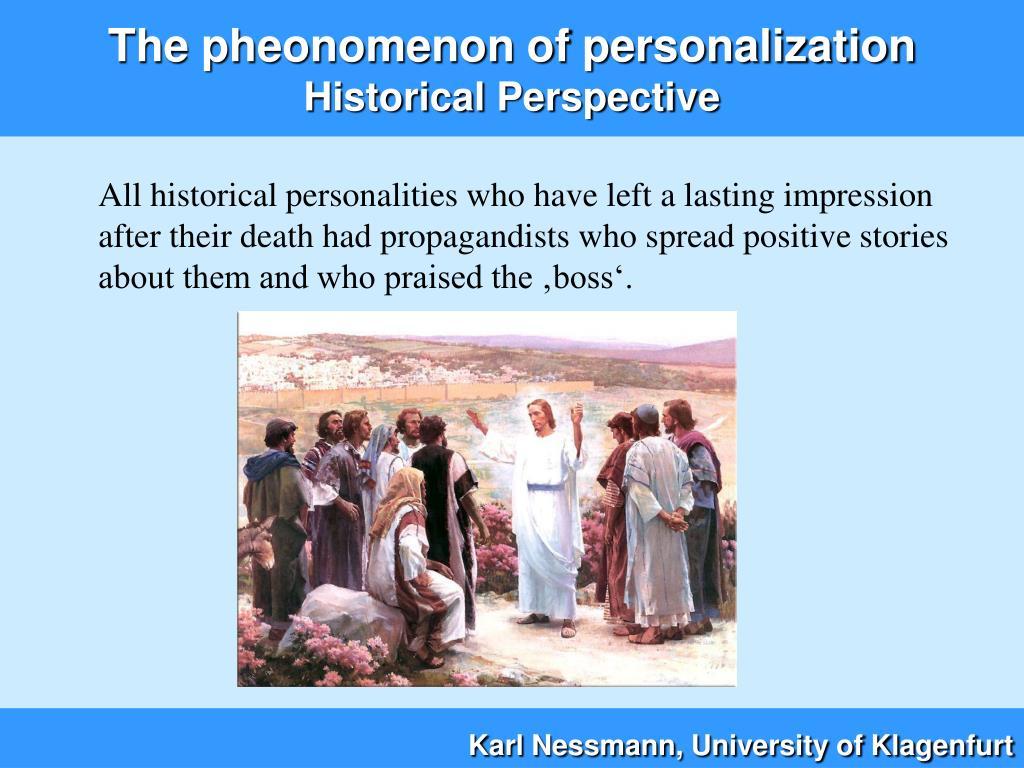The pheonomenon of personalization