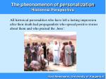 the pheonomenon of personalization historical perspective24