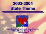 2003 2004 state theme